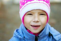 Happy girl-preschooler Royalty Free Stock Photos