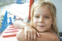 Happy girl-preschooler Royalty Free Stock Image