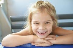 Happy girl-preschooler Stock Image