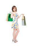 Happy girl with purchases. Stock Photography