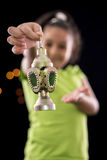 Happy Girl with Ramadan Lantern Royalty Free Stock Photography