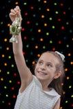 Happy Girl Ramadan Lantern Royalty Free Stock Photo