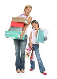Happy girl's shopping! Stock Photo