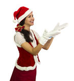Happy girl in Santa costume Stock Image