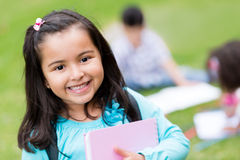 Happy girl at school Stock Photos