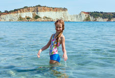 Happy girl in sea Stock Photography