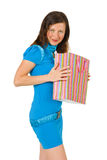 Happy girl with shopping Royalty Free Stock Photos
