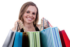 Happy Girl Shopping Royalty Free Stock Photography