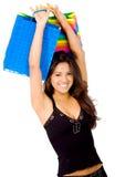 Happy girl shopping Royalty Free Stock Image