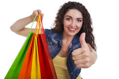 Happy girl with shopping bags Royalty Free Stock Photo