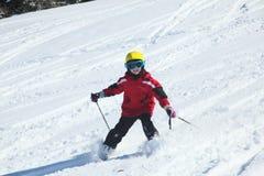 Smiling skiing girl Stock Photography