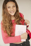 Happy girl smiling with book Royalty Free Stock Photography