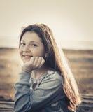 Happy girl  2017 Stock Image