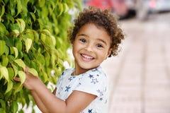 Free Happy Girl Smiling Near The Tree Stock Photo - 97278100