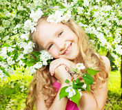 Happy girl at spring Stock Photography