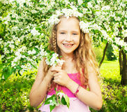 Happy girl at spring Stock Image