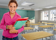 Happy girl student Royalty Free Stock Photography