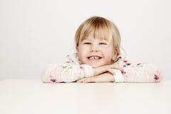 Happy girl in studio Stock Photography
