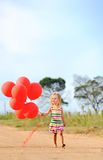 Happy girl in summer Royalty Free Stock Photo