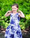 Happy Girl in a Summer Dress Royalty Free Stock Images