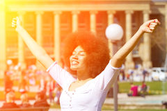 Happy girl in the sun Royalty Free Stock Photo