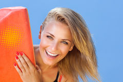 Happy girl surfer Royalty Free Stock Photo