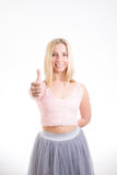 Happy girl thumbs up Royalty Free Stock Photography