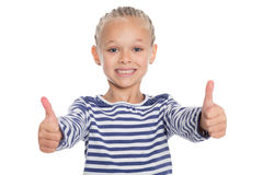 Happy girl with thumbs up Royalty Free Stock Photography