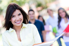 Happy girl at the university Royalty Free Stock Image