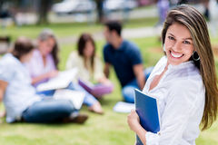 Happy girl at the university Stock Image