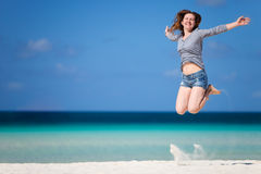 Happy girl on vacation Stock Photography