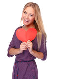 Happy girl on Valentine day Royalty Free Stock Photography