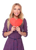 Happy girl on Valentine day Royalty Free Stock Images