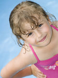 Happy girl in water Stock Photos