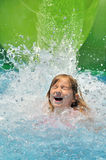Happy girl in water. Stock Image