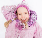 Happy girl in winter Royalty Free Stock Photo