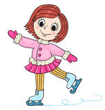 The happy girl in winter clothes Royalty Free Stock Photo