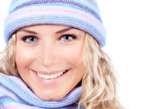 Happy girl in winter hat Royalty Free Stock Photo