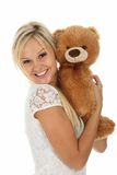 Happy Girl With Toy Royalty Free Stock Image