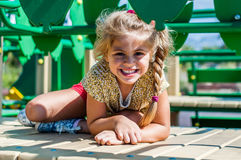 Happy girl. Happy young girl with a beautiful smile Stock Images