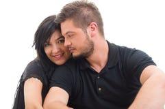 Happy girlfriend with handsome boyfriend Stock Photo