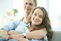 Happy girlfriend Stock Image