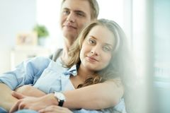 Happy girlfriend Royalty Free Stock Images