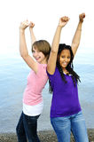 Happy girlfriends Stock Photos