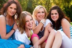 Happy girlfriends Royalty Free Stock Photo