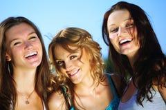 Happy girlfriends Stock Image