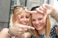 Happy girlfriends Stock Photography