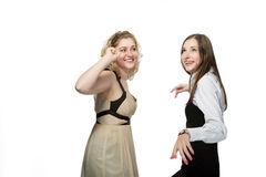 Happy girlfriends having fun Royalty Free Stock Image