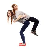 Happy girlfriends having fun together Royalty Free Stock Photo