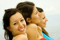 Happy girls Royalty Free Stock Image